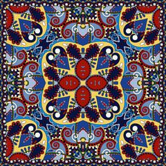 silk neck scarf or kerchief square pattern desig