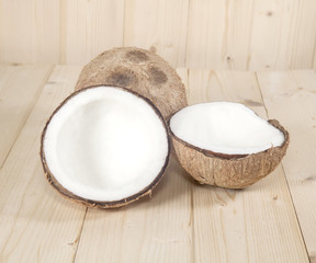 coconut on table