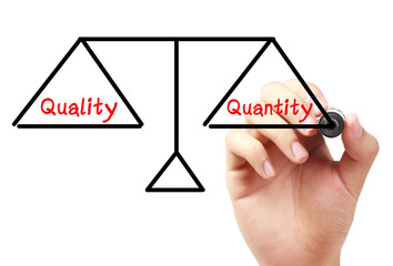 Quality and quantity balance