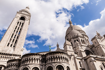 Sacre Coeur, Famous Church Tourism Landmark in Paris France