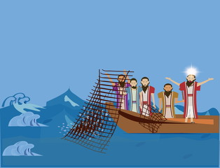"""Jesus came for them and said """"Follow me, you will fish for peopl"""