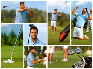 Image mosaic of golf