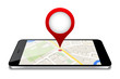 map on phone screen GPS navigations
