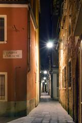 Night street in Venice