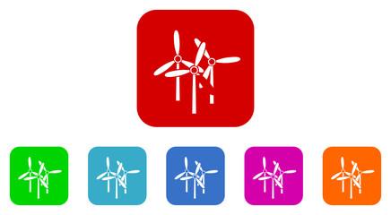windmill flat icon vector set