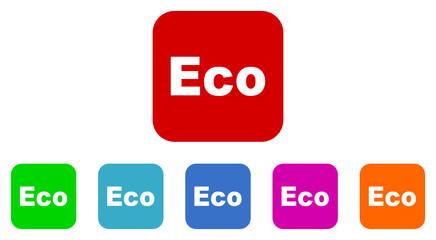 eco flat icon vector set