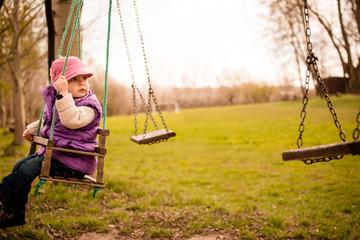 Swinging child