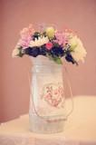 Flowers in a vintage vase