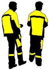 Workers in uniform