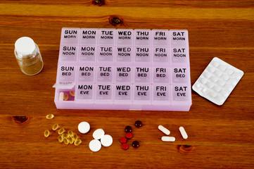 Monthly pills planner