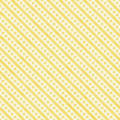 Light Yellow and White Small Polka Dots and Stripes Pattern Repe
