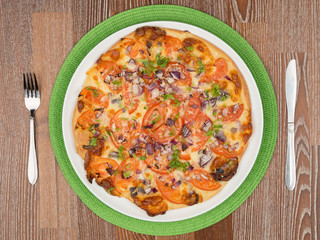 most delicious round pizza