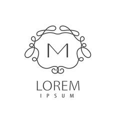 Artistic floral monogram. Elegant logo design template.