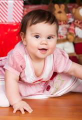 Portrait of little smiling baby girl