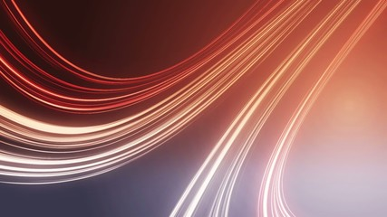 abstract red light lines background, loop