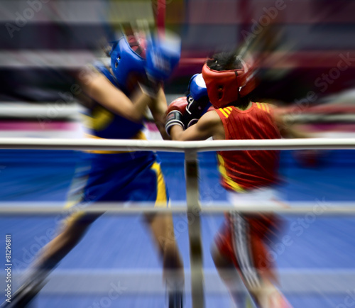 Foto op Aluminium Vechtsport Boxing on a ring