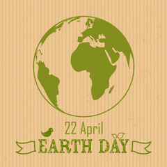 Earth Day background on crushed paper