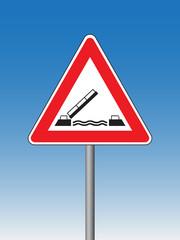 Movable bridge - Hazard Signs
