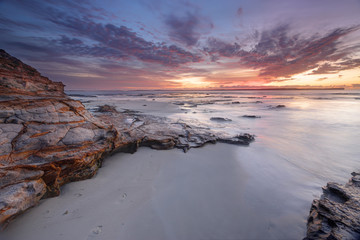 Dawn skies at Plantation Point Jervis Bay Australia