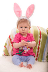 Baby Easter with bunny ears