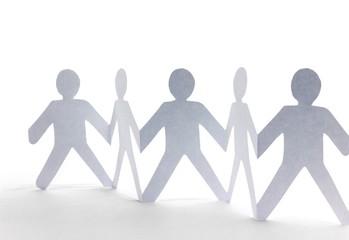 Solidarität - Gruppe - Menschenkette