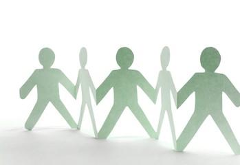 Zusammenhalt, Teamwork Konzept
