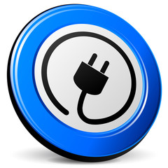 electricity blue icon