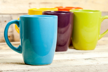 Colorful cups.