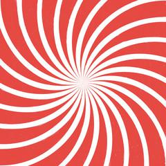 red spiral vintage