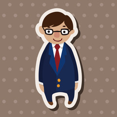 family father character flat icon elements background,eps10