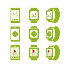 スマートフォンと腕時計型端末