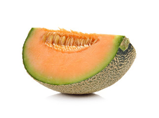 cantalupe melon on a white background