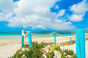 turquoise  poles in Maria Pia beach