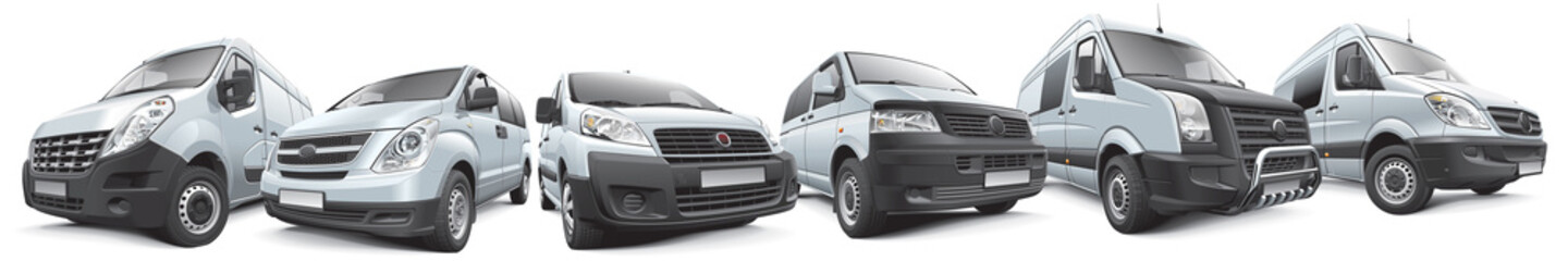 Set of commercial vehicles