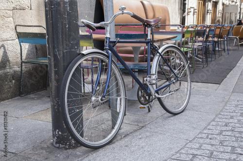Bike in Coppinger Row Street in Dublin Poster