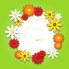 3D-colorful daisies card