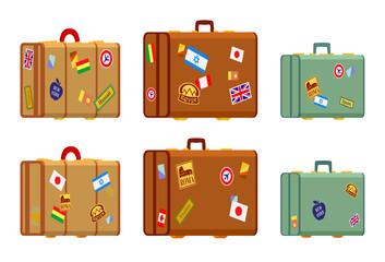 Travelers suitcases
