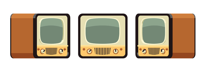 Retro TV sets