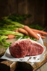 Raw Beef & Carrots