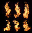 canvas print picture - flame