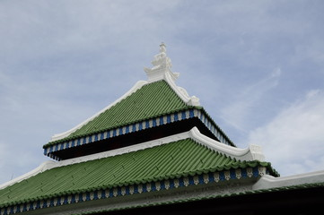 Roof of Kampung Kling Mosque in Malacca, Malaysia