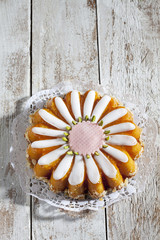 Margereten-Kuchen, Torte, Marzipantorte, Pistazien