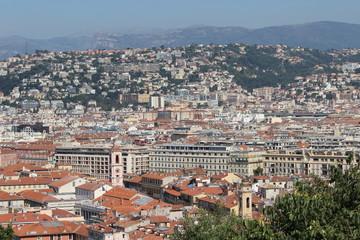 Вид на Ниццу с Замковой горы