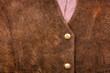 Leinwandbild Motiv Fragment of suede vest
