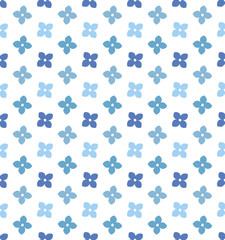Seamless pattern of Hydrangea