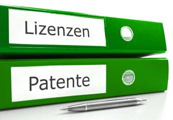 Lizenzen und Patente - Anmeldung