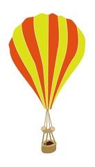 Yellow and Orange Parachute on White Background