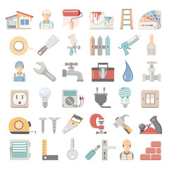 Home repair and painting icons