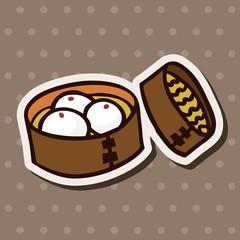 fast food bun flat icon elements,eps10