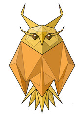 Owl. Low polygon vector illustration